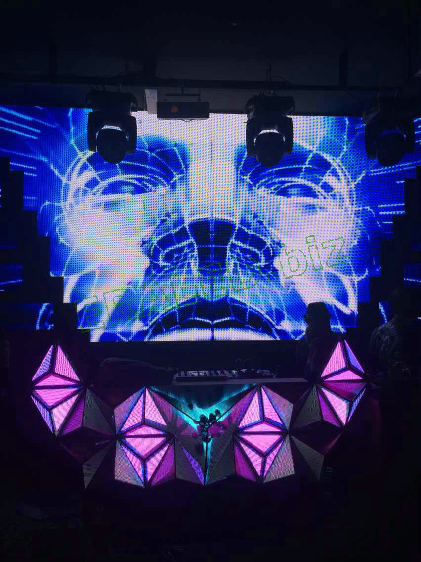 3D DJ stage LED display