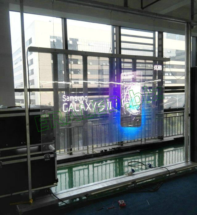Glass wall LED display
