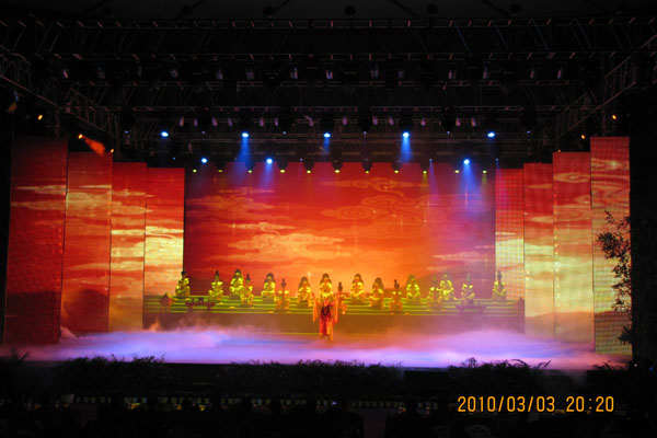P37.5 Indoor stage curtain full color LED display screen